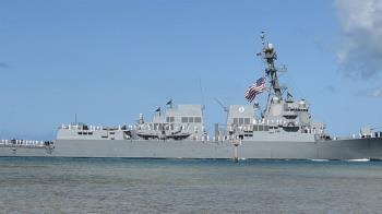美中軍艦11日同時出現蘭嶼外海 國防部全程掌握