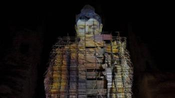 塔利班摧毀的阿富汗巴米揚大佛以3D形式回歸
