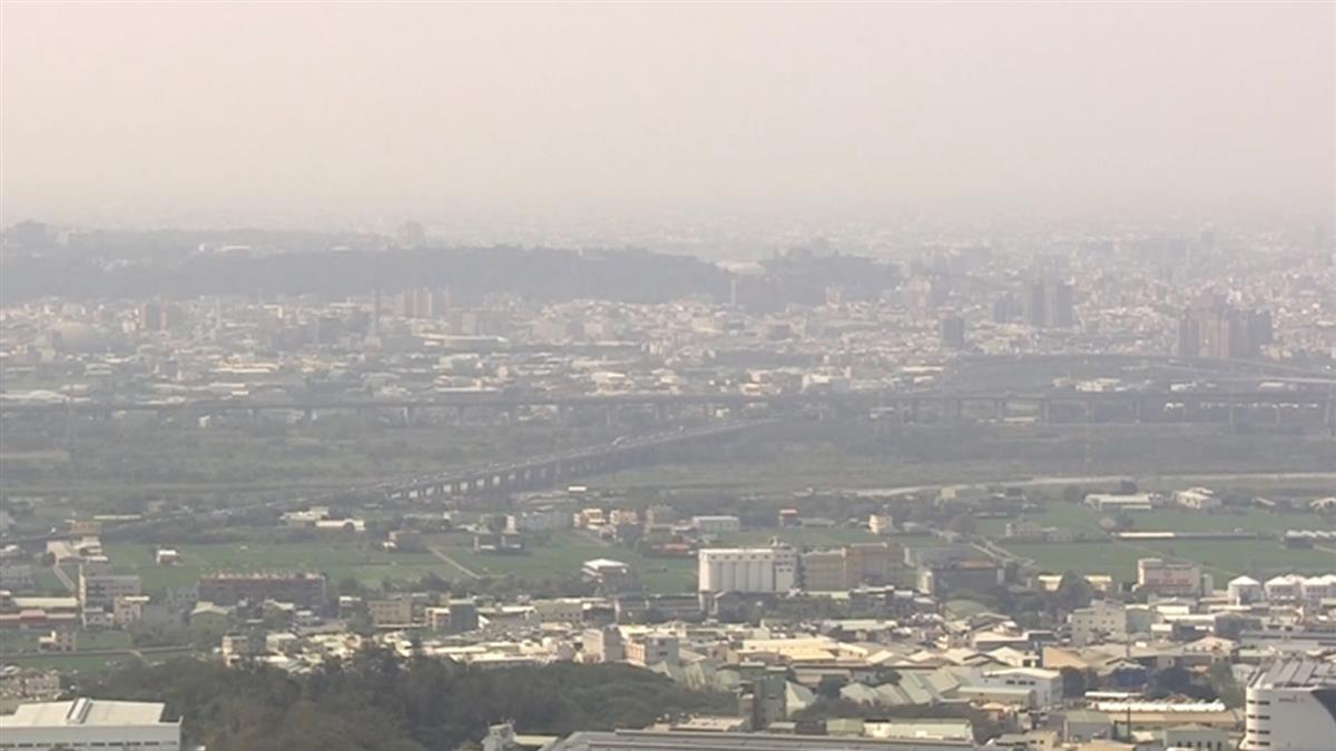 1連7天空品警戒!東森直擊台中市區 最高樓快消失