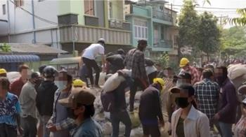 緬甸示威至少12死 文人政府領袖誓言推翻軍政府