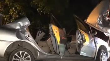 油漆工深夜訪友 不明原因自撞車毀身亡