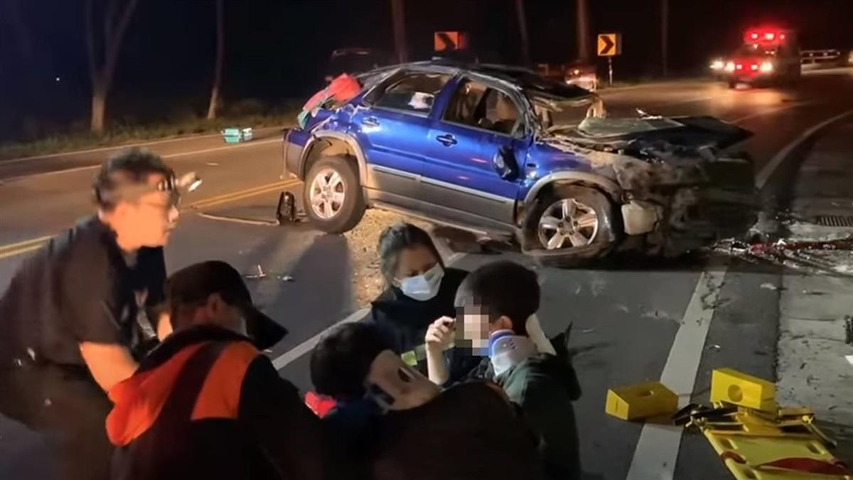 亞運國手酒駕自撞  5人未繫安全帶拋飛車外「1死5傷」
