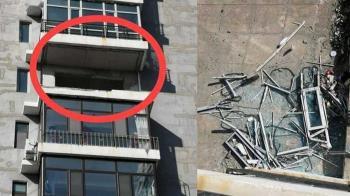 9樓新家陽台被怪風吹毀 屋主見慘況痛哭:一天都沒住過