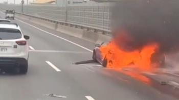 西濱火燒車姨姪成焦屍 目擊者還原現場:司機只顧講電話