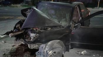 恐怖巧合?距6死車禍僅400M 無照駕駛自撞路燈亡