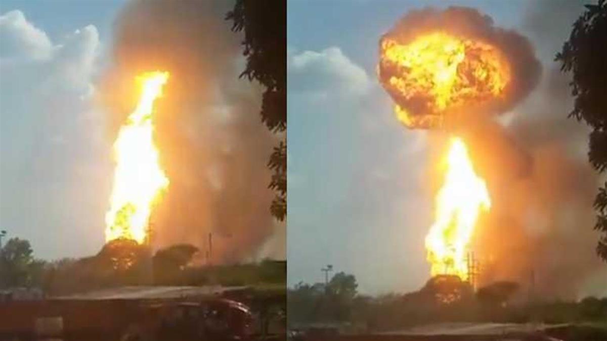 委內瑞拉驚傳遭恐怖攻擊 天然氣廠突爆炸變火球