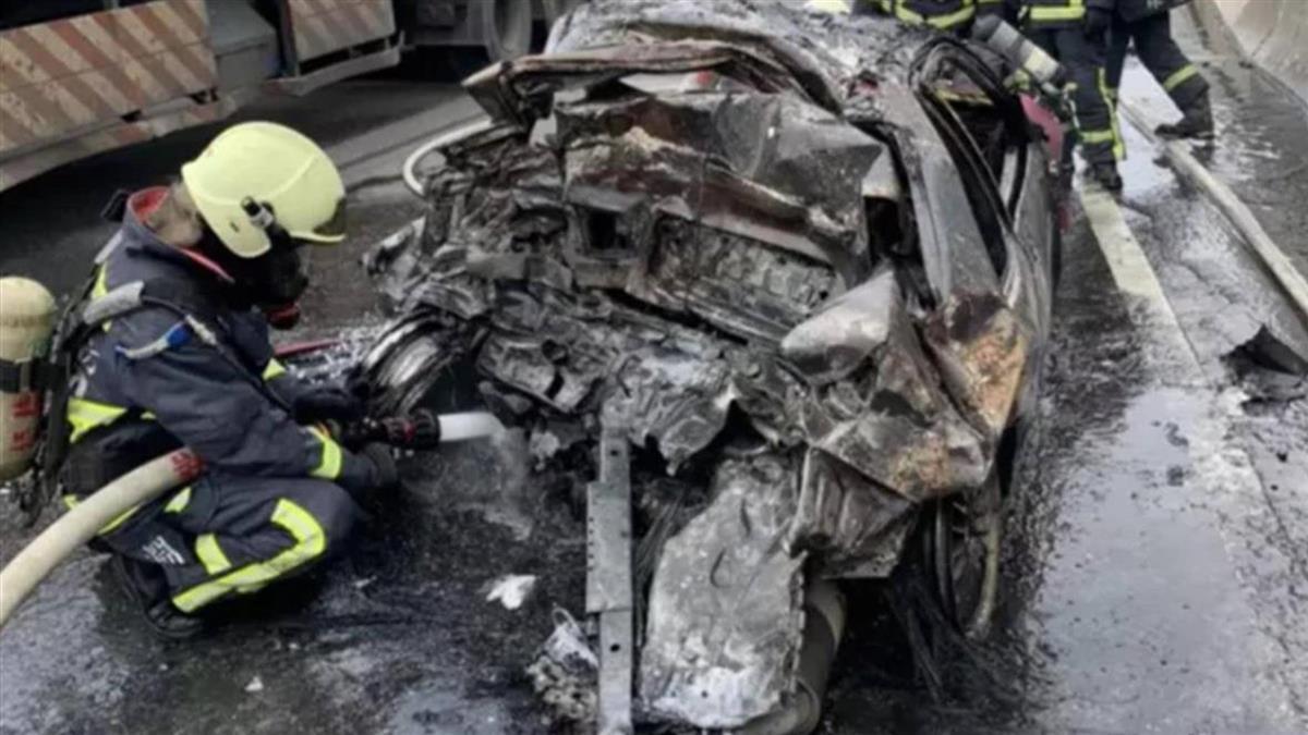 西濱火燒車一家三口慘死 肇事駕駛遭送辦
