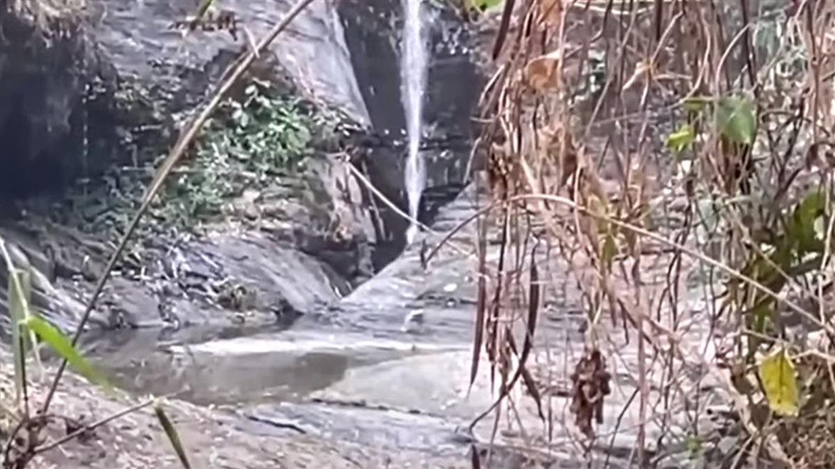 水情拉警報!久旱沒下雨 涼山瀑布幾乎沒水
