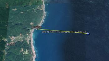 快訊/F-5E戰機墜海位置曝光 2飛官生死不明搜救中
