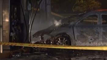 「路衝」易撞? 加油站2次遭轎車衝進 這回釀火燒車