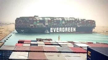 台灣巨輪「長賜號」擱淺卡死蘇伊士運河 歐亞航道癱瘓
