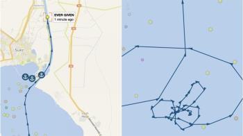 長榮貨輪紅海繞圈圈 航行軌跡驚見「巨鵰圖」網笑翻
