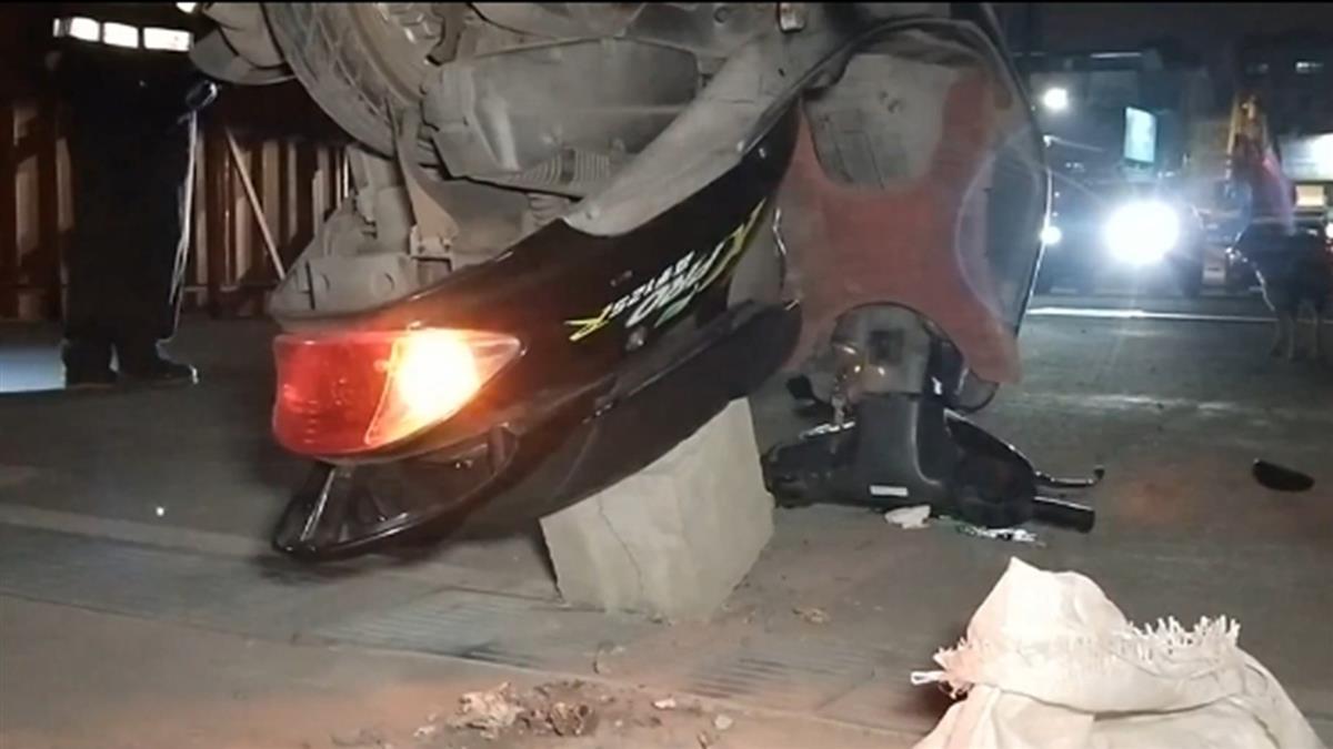 鐵道局施工未放警告標示 鐵路警撞石塊摔車送醫