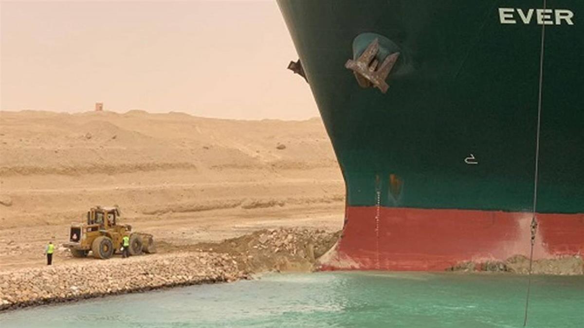 美國看不下去!白宮願幫「長榮脫困」蘇伊士運河