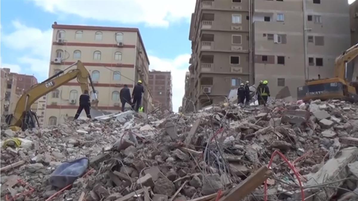 埃及10層大樓倒塌 造成5死24傷