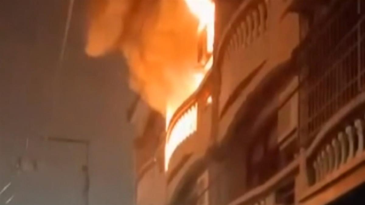半夜疑冷氣機爆炸起火 20多名外籍移工逃命