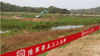 明德水庫距呆水位只剩6公尺 國軍支援清淤