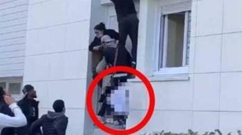 公寓惡火搭「人肉逃生梯」救援 6月大男嬰被拋出窗外