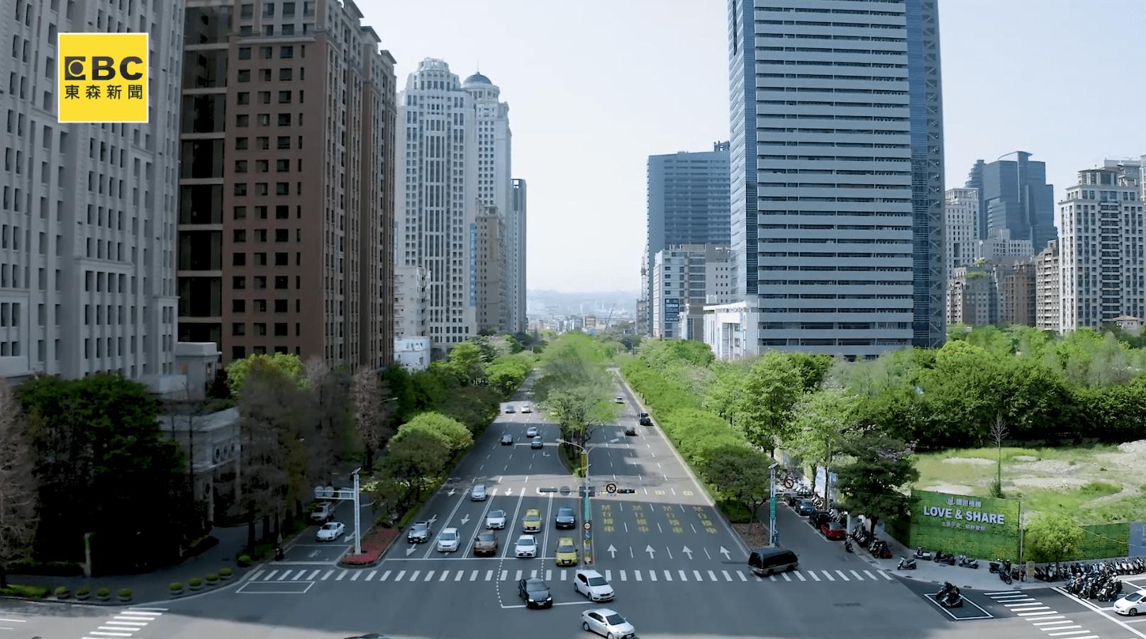 台中七期市政路上豪宅、商業大樓林立