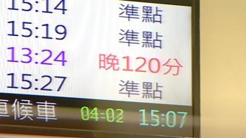 太魯閣號事故影響 其他列車最多延誤2小時以上