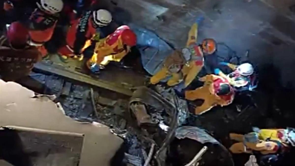 太魯閣出軌搜索工作繼續 疑在第3節車廂下發現遺體