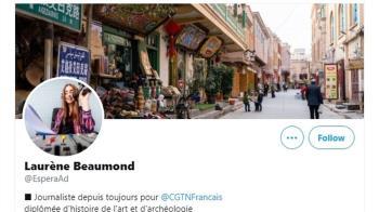 挺新疆虛構記者找到了 是央視法語台前主播