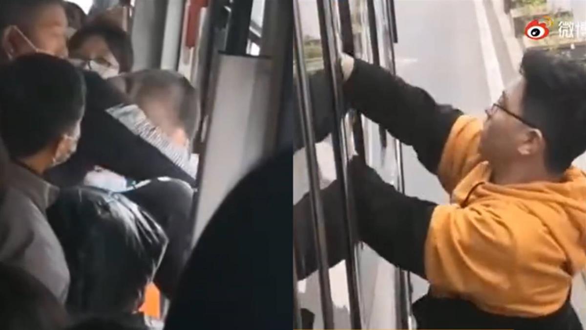 男公車凍末條對女學生亂來 跳窗想逃被民眾「塞回去」