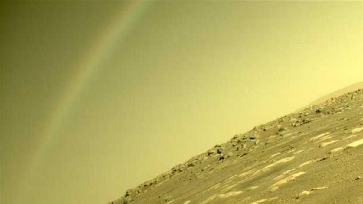 火星驚見彩虹劃過天際 「毅力號」探測新照瘋傳