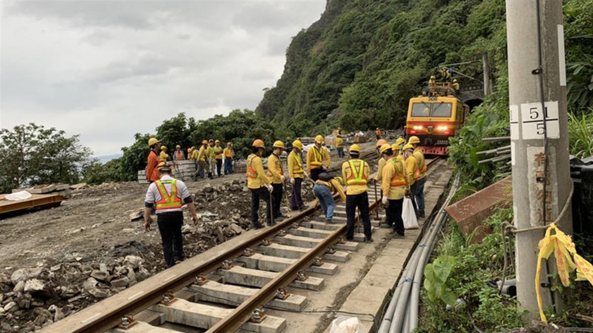 台鐵清水隧道軌道修復超前  晚間崇德至和仁段試運轉