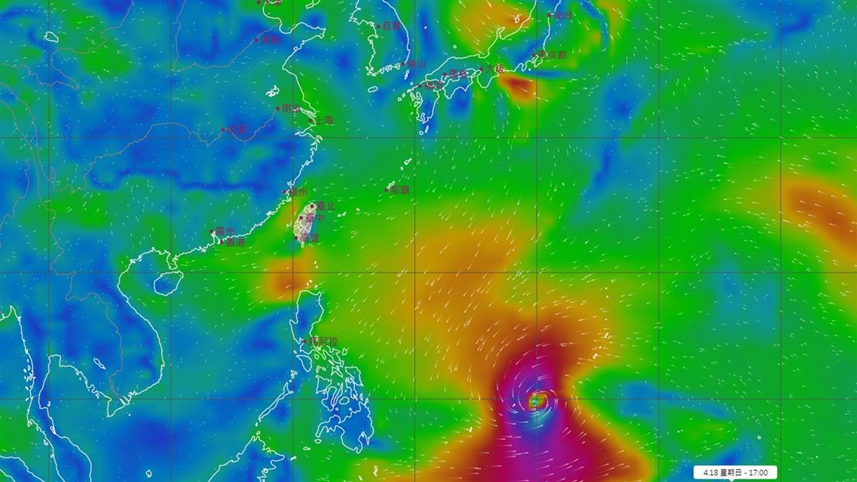 台灣南方驚見「超巨大颱風」 氣象局曝光最新路徑