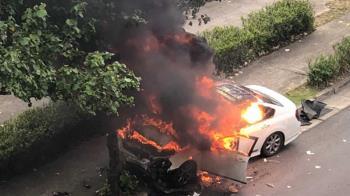桃園青埔火燒車 目擊民眾:整輛爆炸了