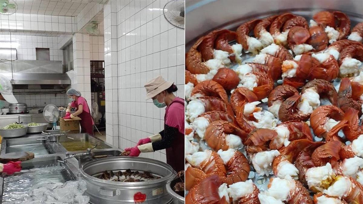 國小營養午餐大吃「龍蝦」 網羨慕:可以重讀國小嗎?