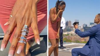 霸氣準新郎「5枚鑽戒求婚」女友落淚:我選擇障礙