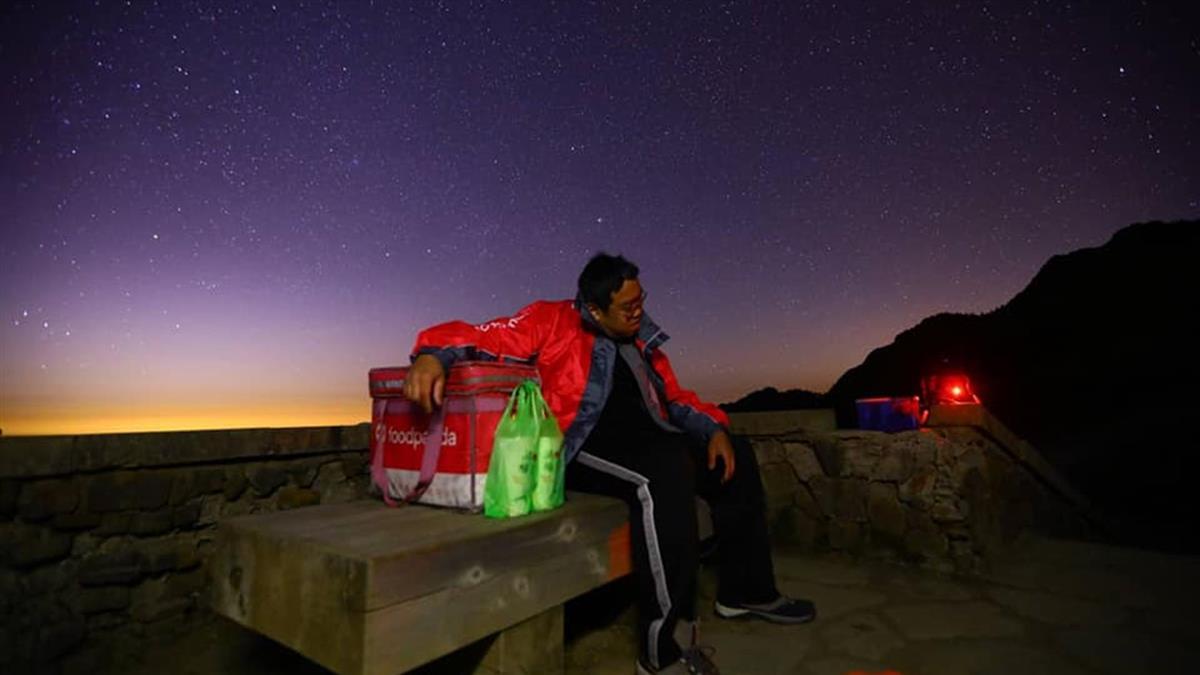 外送員狂衝286公里上合歡山 只為送兩杯飲料給他