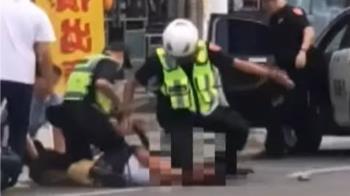 醉漢街頭咆哮攻擊 警負傷與路人奮勇制伏