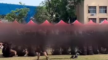 不滿園遊會不對外開放 鳳中校慶變學生黑衣抗議