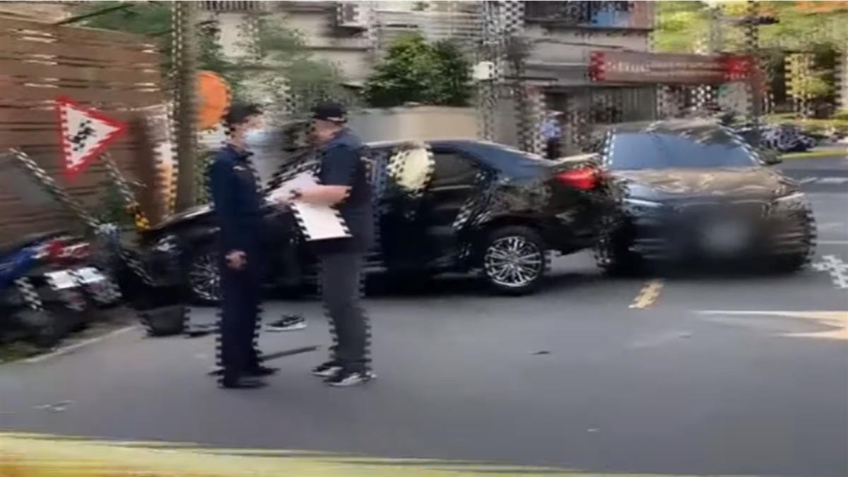 疑債務糾紛擄人! 議員「以車擋車」 車遭撞爛、2嫌落網
