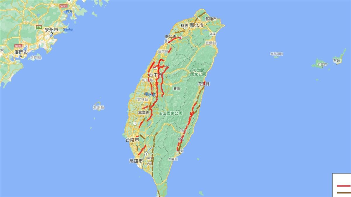 全台11條斷層恐發生6.5強震 「這裡」機率破5成