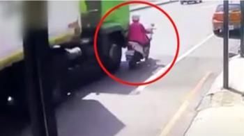 聯結車奪命!撞倒同向機車 七旬婦傷重不治