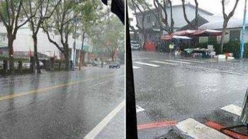 宜蘭雨炸整夜!清境農場暴雨夾帶冰雹 果農:終於聽見雨聲