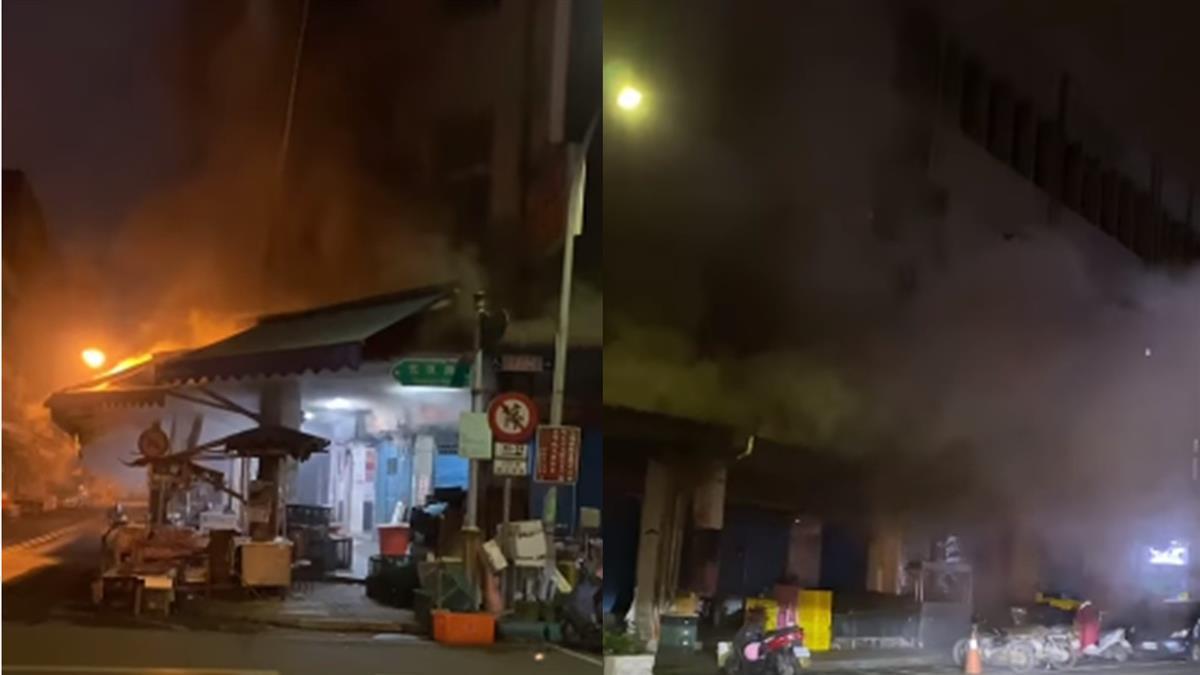 快訊/宜蘭南館市驚爆火警 濃煙狂竄2人受困中