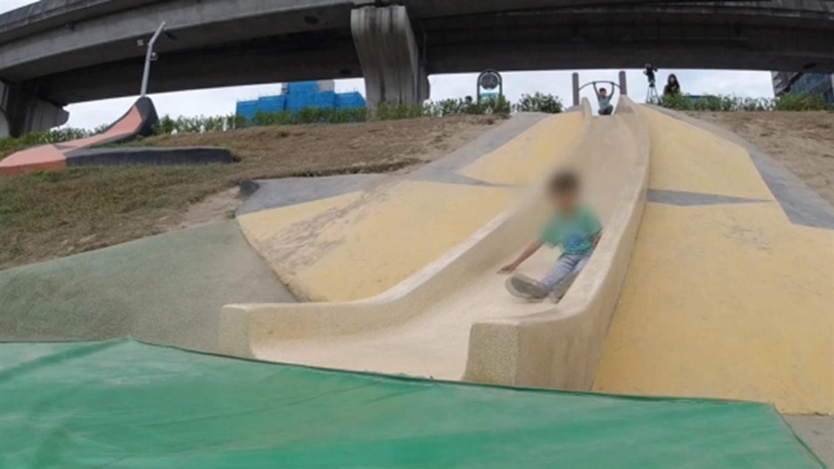 男童溜滑梯慘骨裂!控大都會公園設施不安全