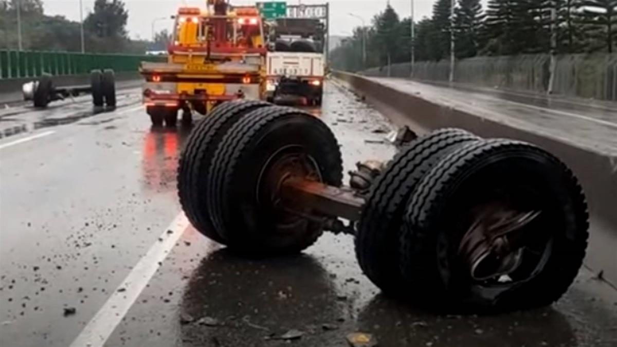 國3貨車 轎車3車連環撞 救援拖吊車又被追撞