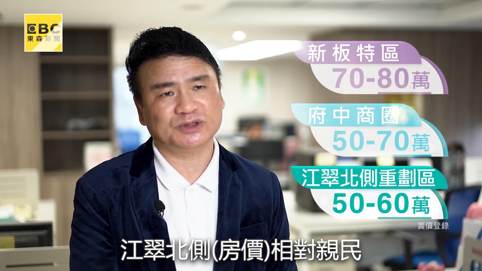 陳高超認為435藝文特區為AB區帶來獨特性,且具有房價優勢