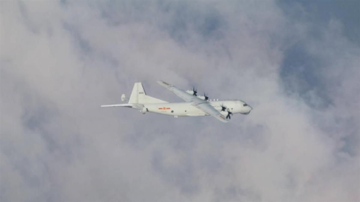 共軍1架反潛機擾台  空軍兵力應對