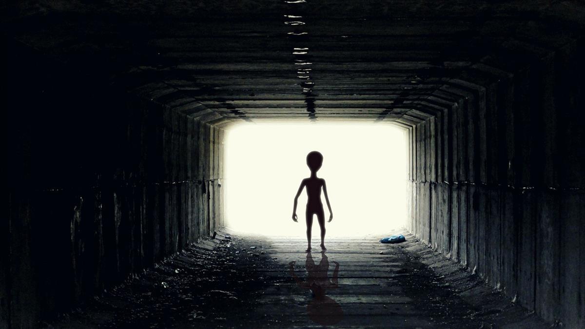 30公分外星人逛大街「多人目擊」 手繪畫像曝光