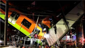 墨西哥斷橋「列車V字墜地」 24死79傷最新畫面曝光