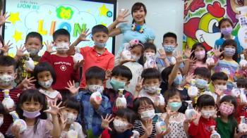 日本獅王趣淨抗菌洗手慕斯 深入校園宣導洗手觀念