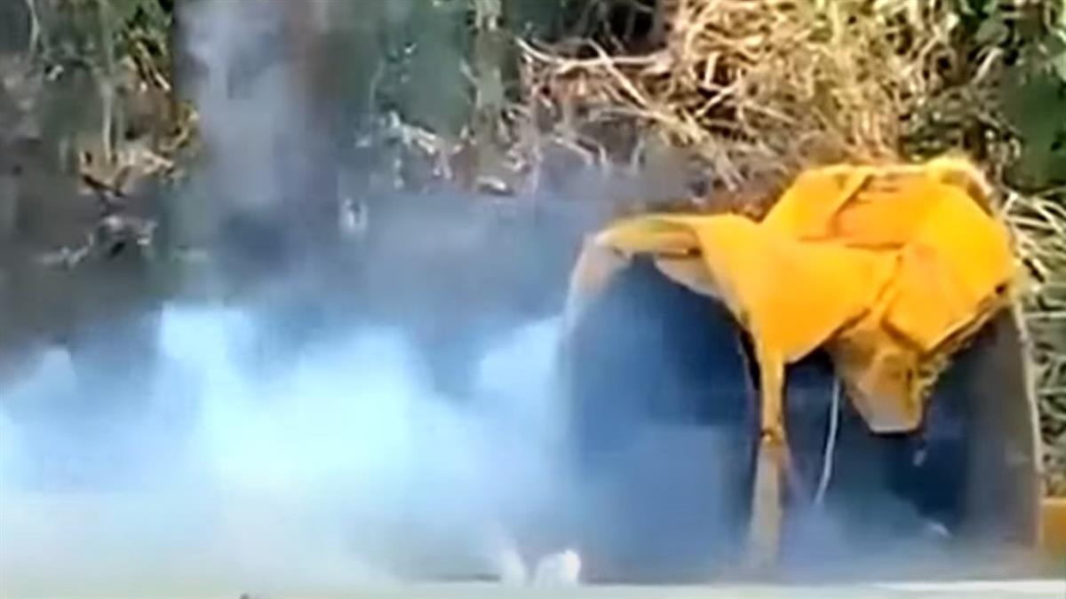 追毒竟查出土製爆裂物 試爆炸出20公分坑