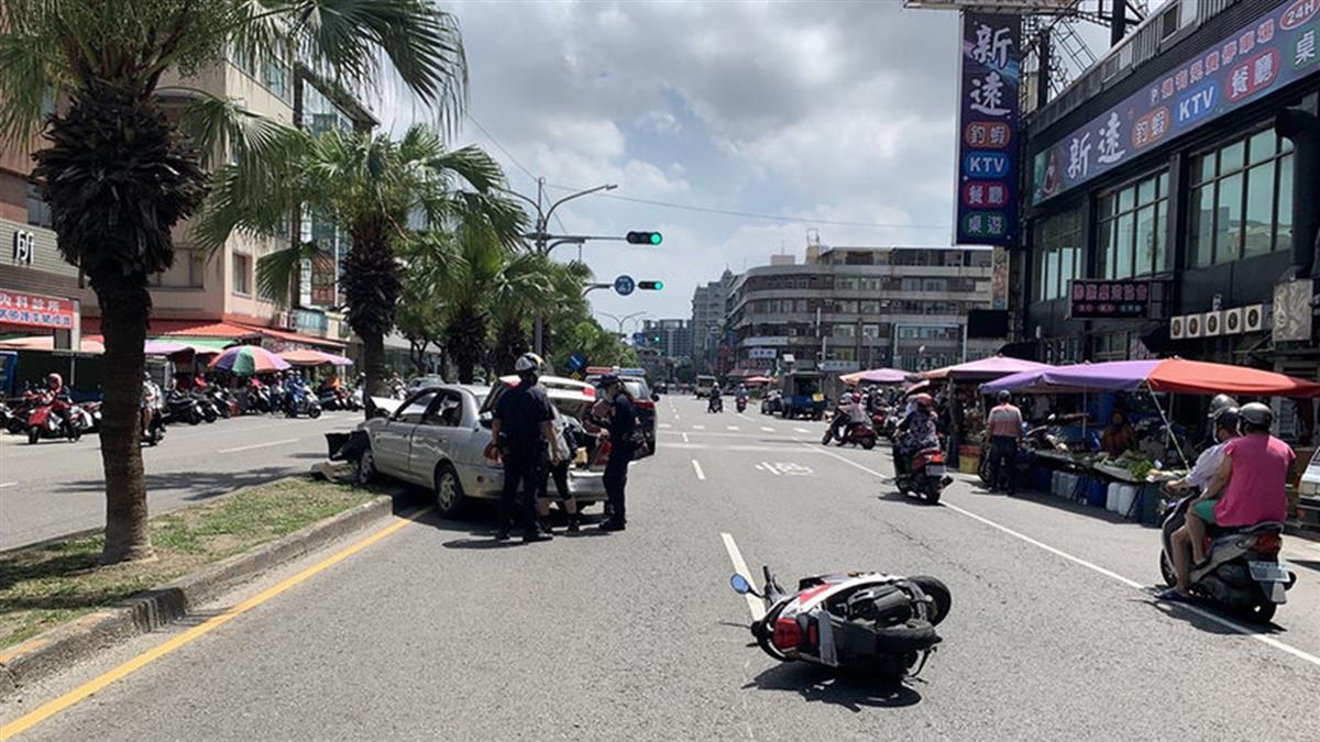 高市8旬翁駕照被註銷還開車 暴衝擦撞3人送醫